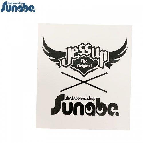 【スナベ ショップ ステッカー】砂辺 x JESSUP ダブルネーム ロゴ クリア 18cm x 16cm 【ブラック】NO4