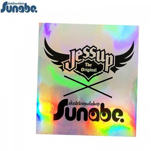 【スナベ ショップ ステッカー】砂辺 x JESSUP ダブルネーム ロゴ ホログラム 18cm x 16cm 【ブラック】NO5