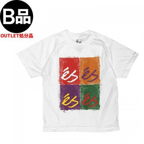 アウトレット【エス ES FOOTWEAR キッズ Tシャツ】Shibori YTH TEE ユースサイズ【ホワイト】