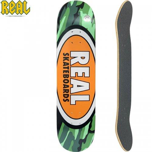 【リアル REAL スケートボード デッキ】OVAL CAMO MD DECK【7.75インチ】NO192