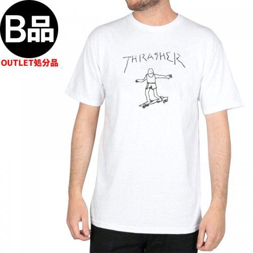 アウトレット【スラッシャー THRASHER スケボー Tシャツ】GONZ TEE【ホワイト】