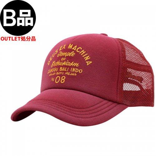 アウトレット【DEUS EX MACHINA デウス バイク サーフ キャップ 帽子】BLEACHED CANGGU TRUCKER HAT【ワインレッド】