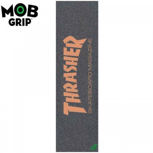 【モブグリップ MOB GRIP デッキテープ】THRASHER SKATE MAG LOGO ORANGE GRIPTAPE 9 x 33 NO131