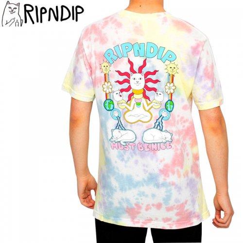 【RIPNDIP リップンディップ スケートボード Tシャツ】ETHERAL TEE【ピーチラベンダータイダイ】NO7