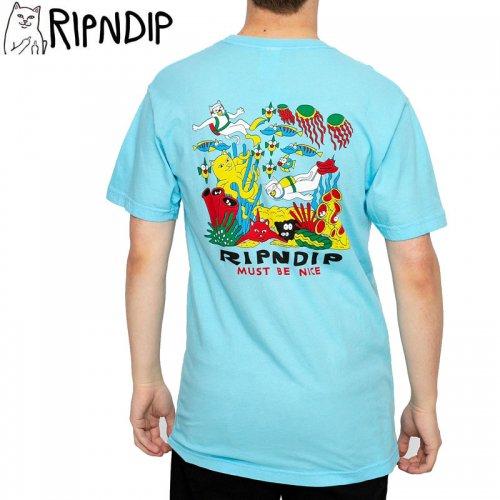 【RIPNDIP リップンディップ スケートボード Tシャツ】UNDER THE SEA TEE【ベイビーブルー】NO8