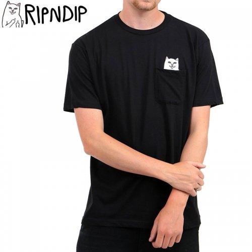 【RIPNDIP リップンディップ スケートボード Tシャツ】LORD NERMAL POCKET TEE【ブラック】NO9