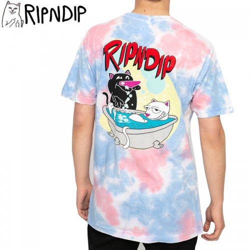 【RIPNDIP リップンディップ スケートボード Tシャツ】BATH TIME TEE【ピンクタイダイ】NO10