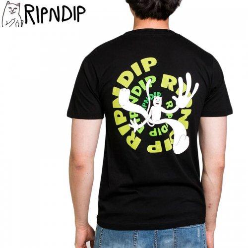 【RIPNDIP リップンディップ スケートボード Tシャツ】DESCENDING TEE【ブラック】NO11