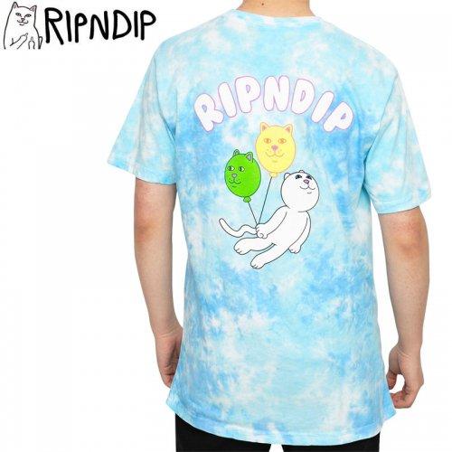 【RIPNDIP リップンディップ スケートボード Tシャツ】DRIFTING AWAY TEE【ブルータイダイ】NO12
