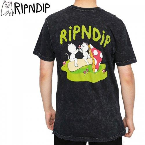 【RIPNDIP リップンディップ スケートボード Tシャツ】SHARING IS CARING TEE【ブラックミネラルウォッシュ】NO13