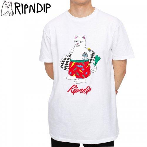 【RIPNDIP リップンディップ スケートボード Tシャツ】SURF BREAK TEE【ホワイト】NO14