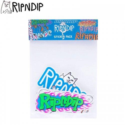 【RIPNDIP リップンディップ ステッカー】RIPNDIP LOGO STICKER PACK 10枚入り NO11