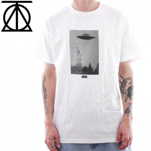 【スケボー Tシャツ THEORIES セオリーズ】NEW YORK HARBOR HEAVY DUTY TEE【ホワイト】NO12