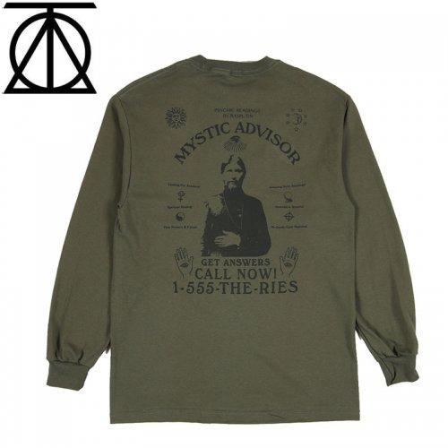 【THEORIES セオリーズ スケボー ロング Tシャツ】MTSTIC ADVISOR L/S TEE【オリーブ】NO6