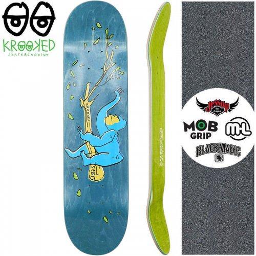 【クルックド KROOKED スケートボード デッキ】SEBO LOUNGING DECK【8.06インチ】ブルー NO146