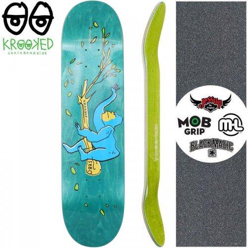 【クルックド KROOKED スケートボード デッキ】SEBO LOUNGING DECK【8.06インチ】グリーン NO147