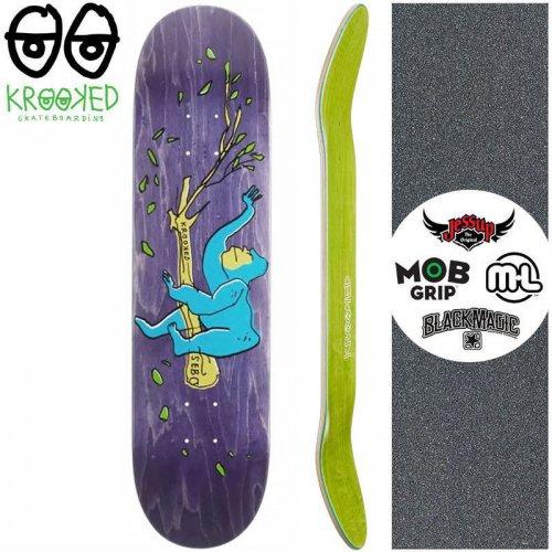 【クルックド KROOKED スケートボード デッキ】SEBO LOUNGING DECK【8.06インチ】パープル NO148
