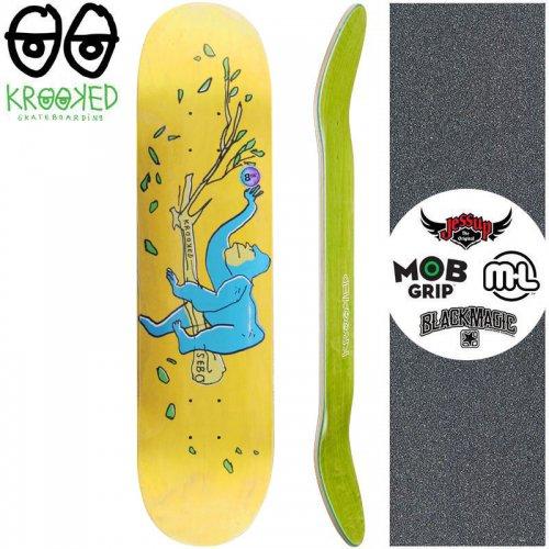 【クルックド KROOKED スケートボード デッキ】SEBO LOUNGING DECK【8.06インチ】イエロー NO149