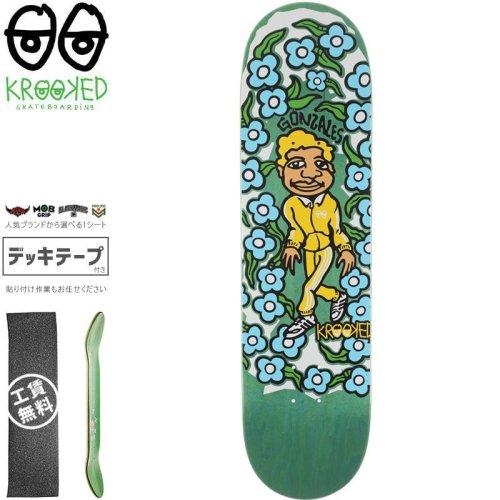 【クルックド KROOKED スケートボード デッキ】GONZ SWEATPANTS YELLOW DECK【8.5インチ】グリーン NO150