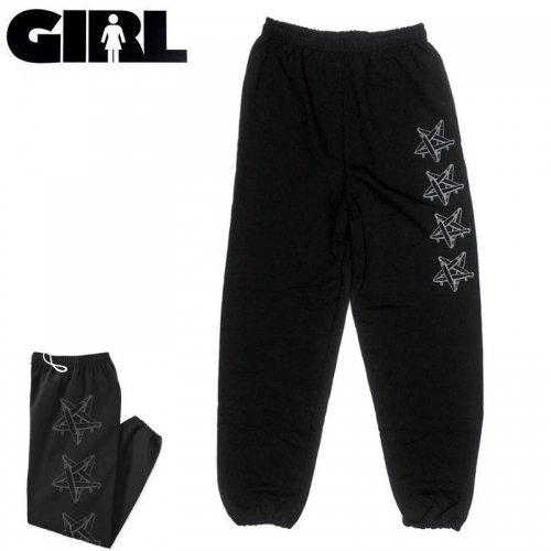 【ガール GIRL SKATEBOARDS スエットパンツ】CRAILTAP BOARDAGRAM SWEAT PANTS【ブラック】NO3