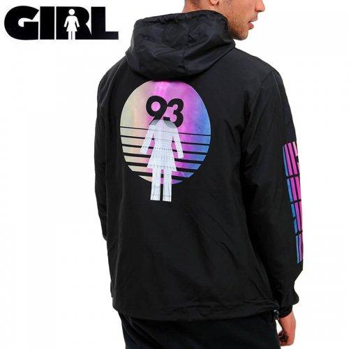 【GIRL SKATEBOARD ガール スケートボード ジャケット】FUTURE OG ANORAK WINDBREAKER JACKET 【ブラック】NO3