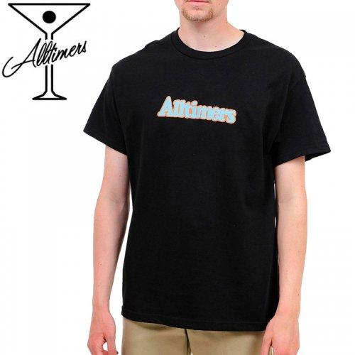 【ALLTIMERS オールタイマーズ スケボー Tシャツ】BROADWAY TEE【ブラック】NO16
