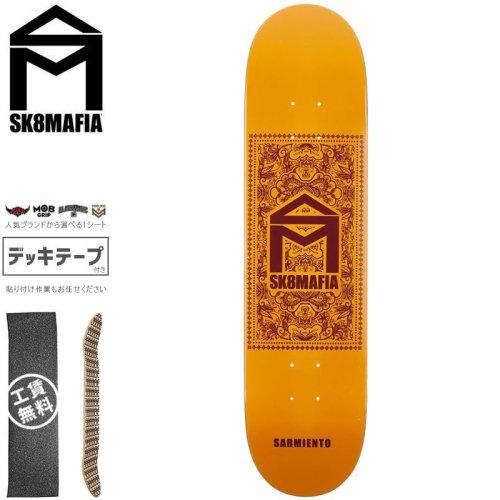 【スケートマフィア SK8MAFIA スケートボード デッキ】SARMIENTO BANDANA DECK【7.75インチ】NO140