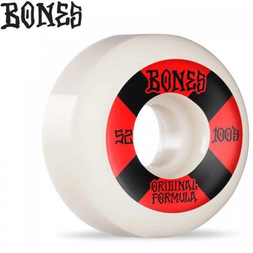 【ボーンズ BONES スケボー ウィール】OG FORMULA 100A #4 V5 SIDECUTS WHEELS【52mm】NO263
