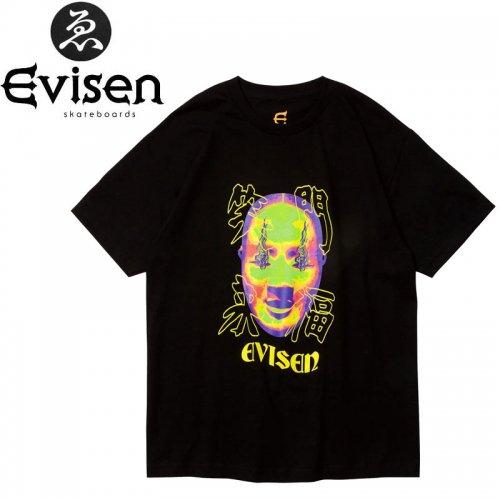 【EVISEN エビセン スケボー Tシャツ】FUKUWARAI TEE【ブラック】NO6