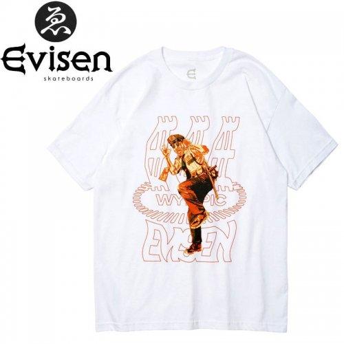 【EVISEN エビセン スケボー Tシャツ】HOT FUZZ TEE【ホワイト】NO7