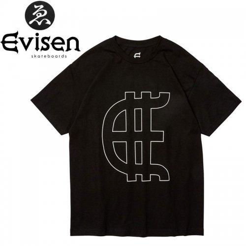 【EVISEN エビセン スケボー Tシャツ】EVY TEE【ブラック】NO9