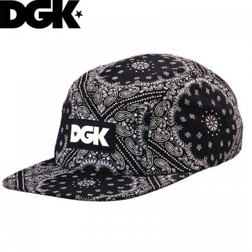 【ディージーケー DGK スケボーキャップ】OG 5PANEL STRAPBACK HAT ブラック NO62