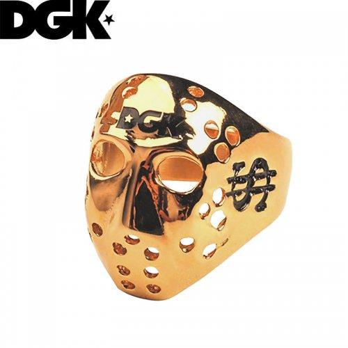 【ディージーケー DGK スケボー 小物 アクセサリー】MASKED RING ゴールド 指輪【8号】【9号】NO9