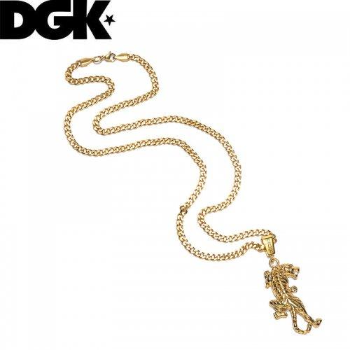 【ディージーケー DGK スケボー 小物 アクセサリー】TIGER STYLE NECKLACE ゴールド ネックレス NO10