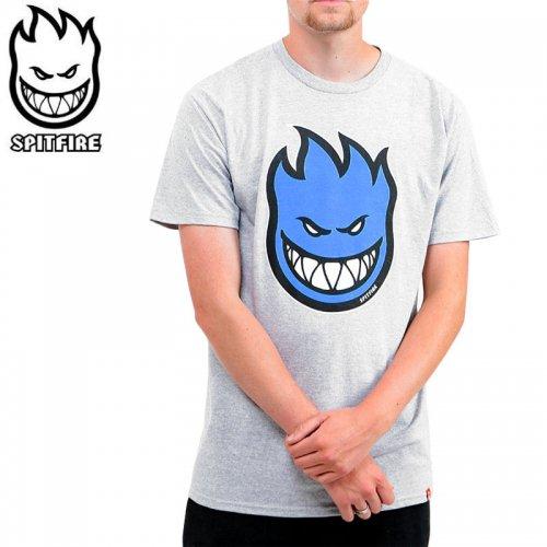 【SPITFIRE スピットファイア スケボー Tシャツ】BIGHEAD FILL TEE【ヘザーグレー×ブルー】NO276