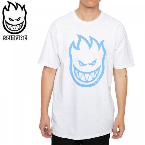 【SPITFIRE スピットファイア スケボー Tシャツ】BIGHEAD TEE【ホワイト×ライトブルー】NO277