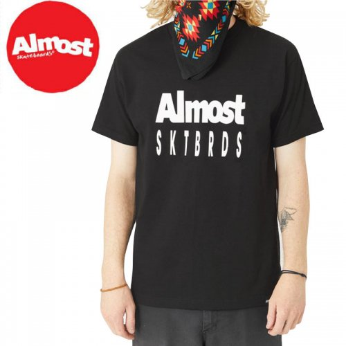 【ALMOST オルモスト スケートボード Tシャツ】TAILORED PRICE POINT TEE【ブラック】NO43