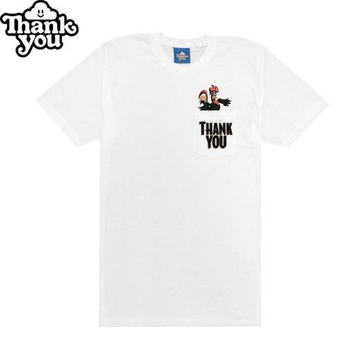 【THANK YOU サンキュー スケボー Tシャツ】BALANCED POCKET TEE【ホワイト】NO6