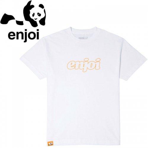 【ENJOI エンジョイ スケートボード Tシャツ】SEVENTIES LOGO PRICEPOINT TEE 【ホワイト】NO78