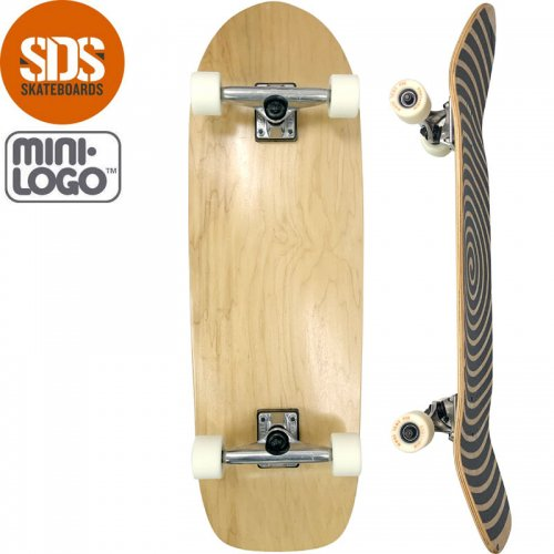 【スケートボード 無地 クルーザー】SDS OLDSCHOOL CRUISER COMPLETE【33インチ】ナチュラル NO4