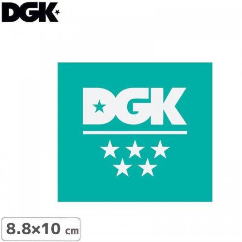 【ディージーケー DGK スケボー ステッカー】5 STAR STICKER【8.8m×10cm】NO118