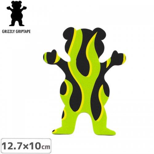【グリズリー GRIZZLY ステッカー】BEAR STICKER グリーン×ブラック 12.7cm×10cm NO37