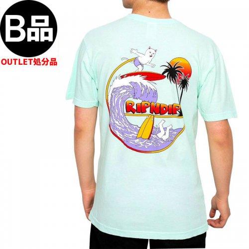 アウトレット【RIPNDIP リップンディップ スケートボード Tシャツ】OFF MY WAVE TEE【アクア】