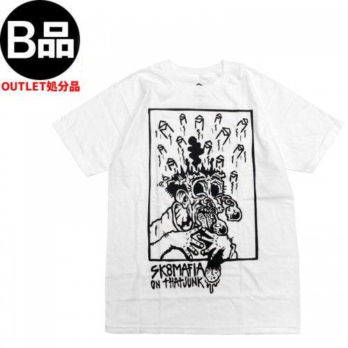 アウトレット【スケートマフィア SK8MAFIA スケボー Tシャツ】SKATEMAFIA That Junk Tee【ホワイト】