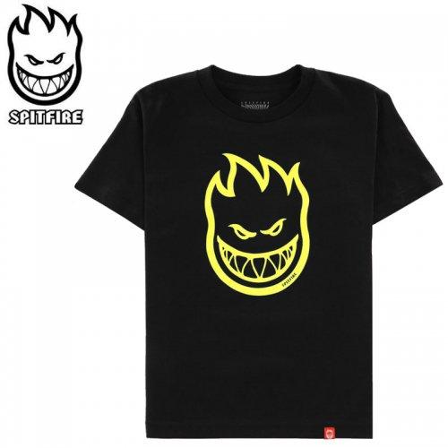 【SPITFIRE キッズ Tシャツ】BIGHEAD YOUTH TEE ユースサイズ 【ブラック×イエロー】NO74