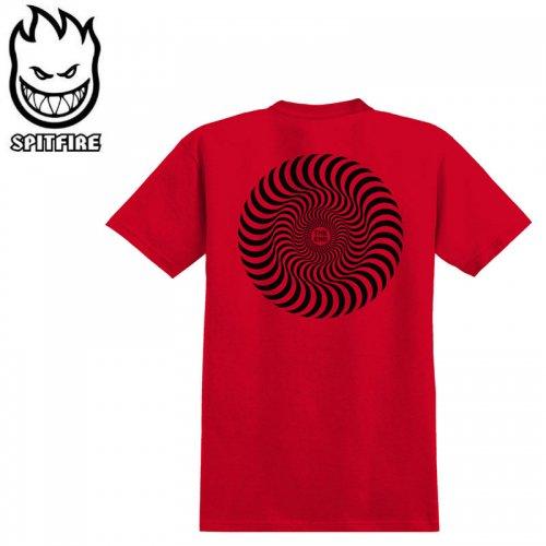 【SPITFIRE キッズ Tシャツ】CLASSIC SWIRL YOUTH TEE ユースサイズ 【レッド×ブラック】NO75