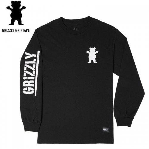 【グリズリー GRIZZLY ロンT】MINI BEAR L/S TEE【ブラック】NO1