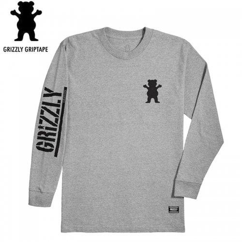 【グリズリー GRIZZLY ロンT】MINI BEAR L/S TEE【ヘザーグレー】NO2