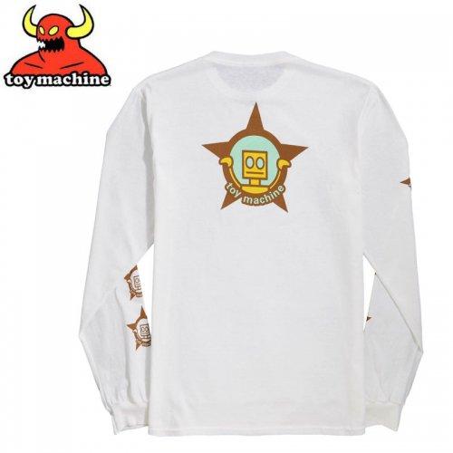 【トイマシーン TOY MACHINE スケボー ロングTシャツ】ROBOT STAR L/S T-SHIRT【ホワイト】NO14