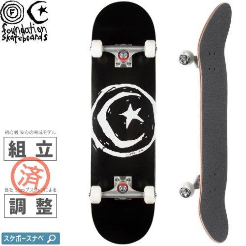 【ファンデーション FOUNDATION スケボー コンプリート】STAR AND MOON BLACK COMPLETE 100A【8.0インチ】NO16